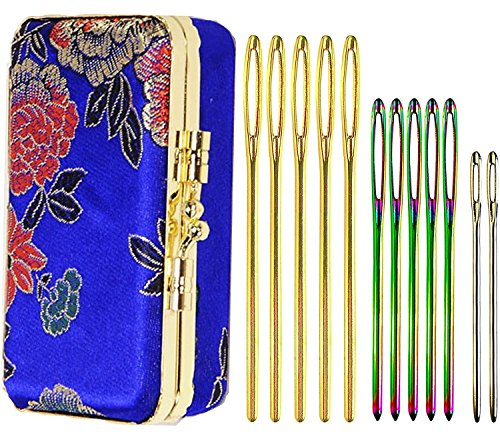 12-Pack Darning Needles for Wool and Tapestry Finishing Needles with Large Eyes and Blunt End 3-Sizes in Darning Needle (Tapestry Needle Set)