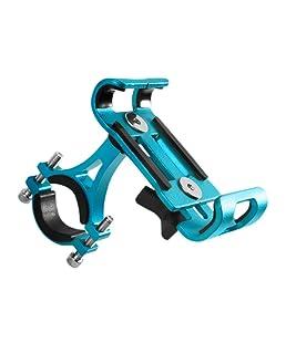 Allacers Bike Phone Holder in silicone antiurto manubrio della bicicletta GPS supporto per iPhone Samsung Huawei Xiaomi, light blue
