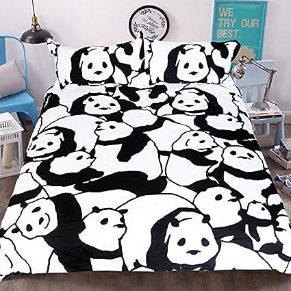 Amazon Com Sleepwish Panda Bear Bedding White And Black Animal Bed