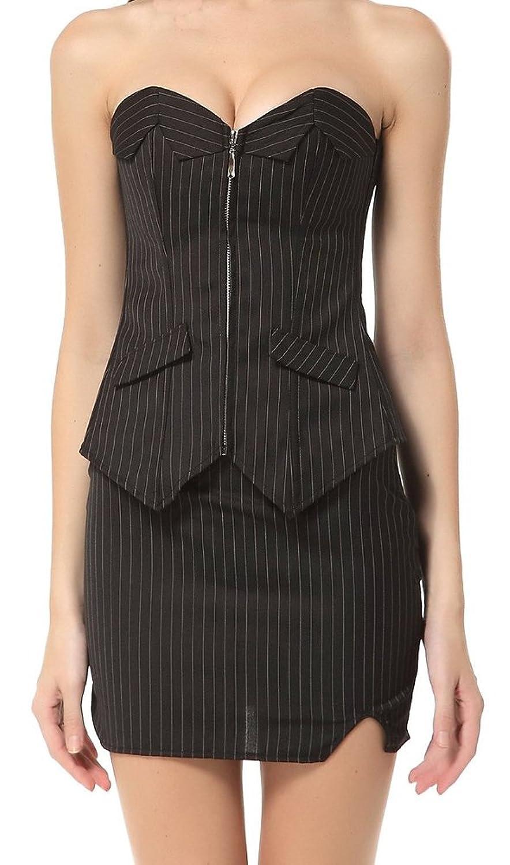 Blidece Women's Overbust Corset Top With Skirt