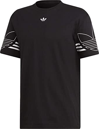 adidas Originals T Shirt Herren Outline Tee DU8145 Schwarz