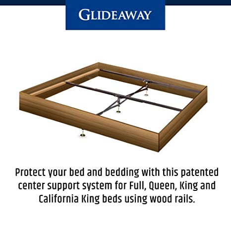 amazoncom glideaway x support bed frame support system gs 3 xs model 3 cross rails and 3 legs strong center support base for full queen and king - Glideaway Bed Frames