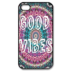Good Vibes Use Your Own Image Phone Case for Iphone 4,4S,customized case cover ygtg582930