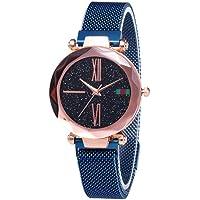 Febelle - Reloj de Pulsera para Mujer, diseño de Cielo Estrellado con imán