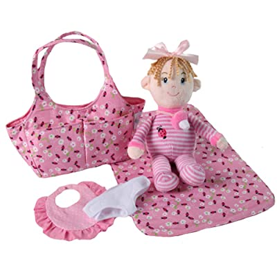Snuggle Stuffs Lil' Baby Bug Infant Doll & Diaper Bag Playset: Toys & Games