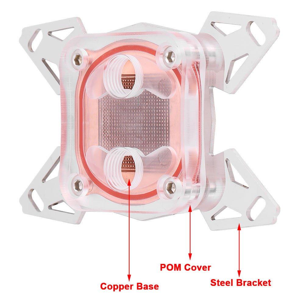 Ordenador Bloque de Enfriamiento de Agua del Enfriador de Agua de la Computadora CPU Rojo Pom Cover con Canal para AMD AM4 Asixx Bloque de Enfriamiento de Agua de la CPU