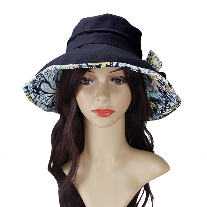 Sombrero de verano para mujer para la playa gorro del algodón del sol Anti- UV cf23fc9311d