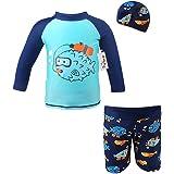 Baby 3 Pieces Swimsuits Swim Trunks T-shirt Swimwears (height 80-130cm)