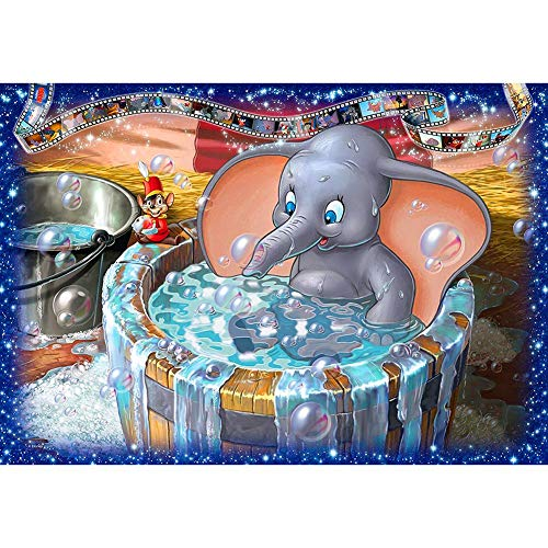 Diamond Painting Kit for Adult 5D DIY Full Drill Diamond Painting Sets Arts Craft for Home Decor Elephant is Taking A Shower 15.7x11.8in 1 by EJRF-H