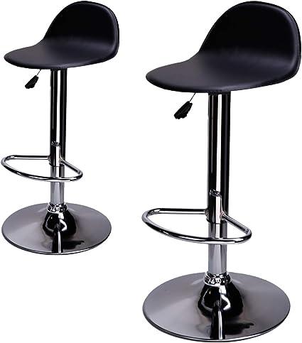 Colore:Bianco Dimensione:2pz-Set cm Sgabello Cucina Moderno con rotelle 46-63 Girevole 360/° CCLIFE Set 2x Sgabello da lavoro Regolabile in Altezza