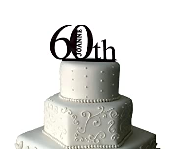 Image Unavailable Not Available For Colour 60th Birthday Cake Topper