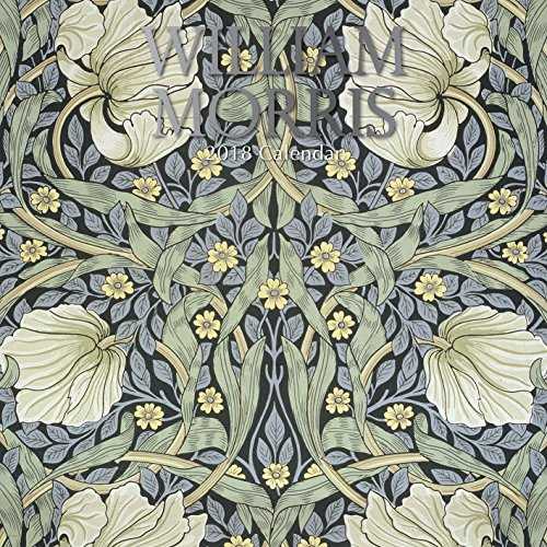 2018 William Morris Calendar - 12 x 12 Wall Calendar - With 210 Calendar Stickers