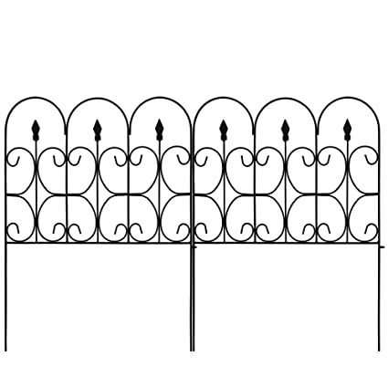 Amazon.com : Amagabeli Decorative Garden Fence Outdoor Coated Metal ...