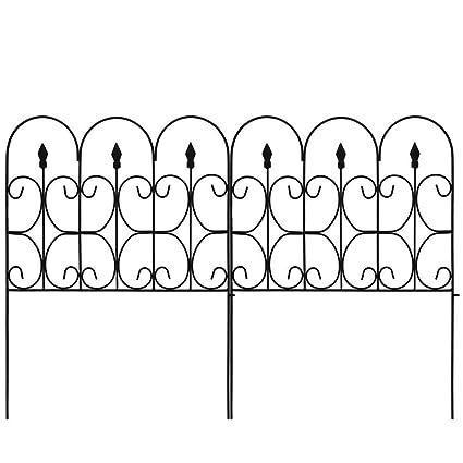 Iron Fence Panels >> Amazon Com Amagabeli Decorative Garden Fence 32in X 10ft