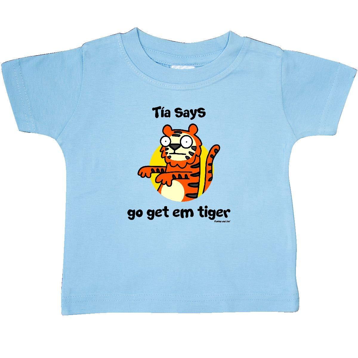 inktastic Tia Says Go Get Em Tiger Baby T-Shirt Flossy and Jim