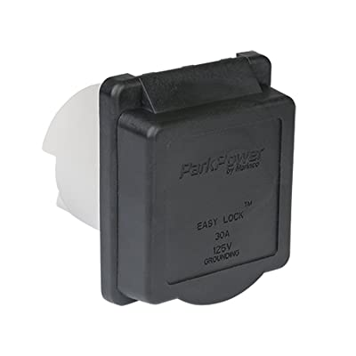 ParkPower 30ARVIB Weekender Power Inlet - 30A, Black: Automotive