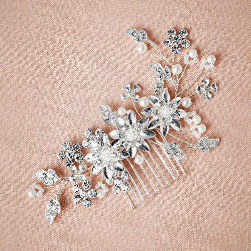 Remedios Cyrstal Flower Side Hair Comb Bridal Headpiece Wedding Accessory