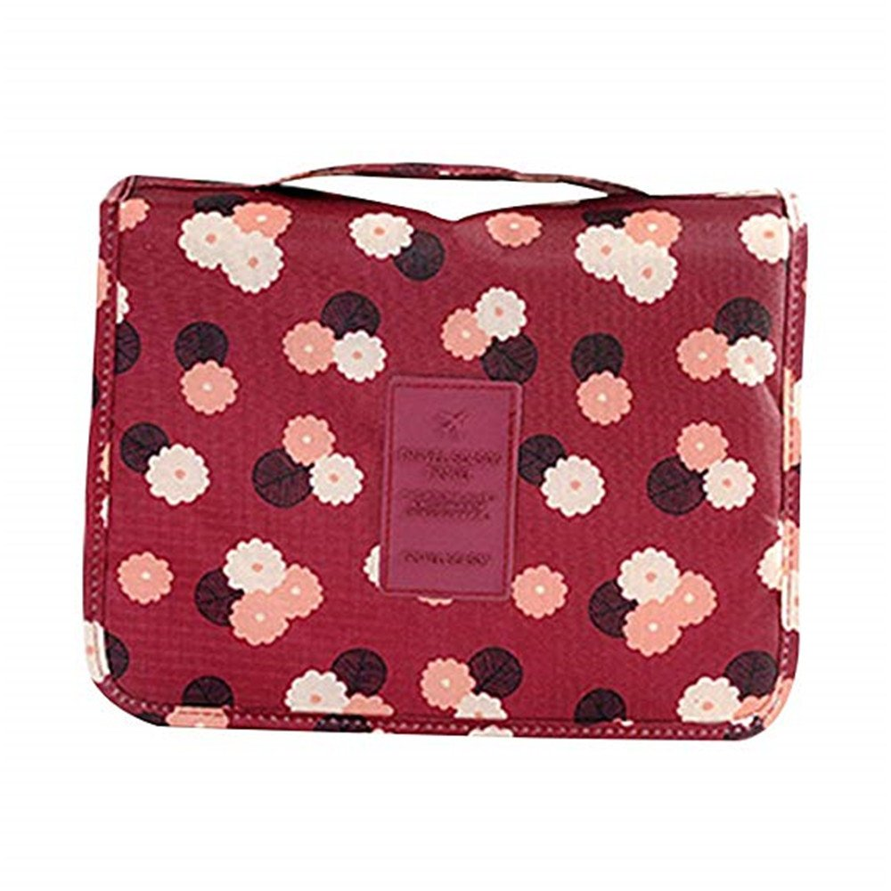 Multifunction Travel Hanging Wash Bag Waterproof Folding Make up Toiletry Bags with Hook Qiqilei