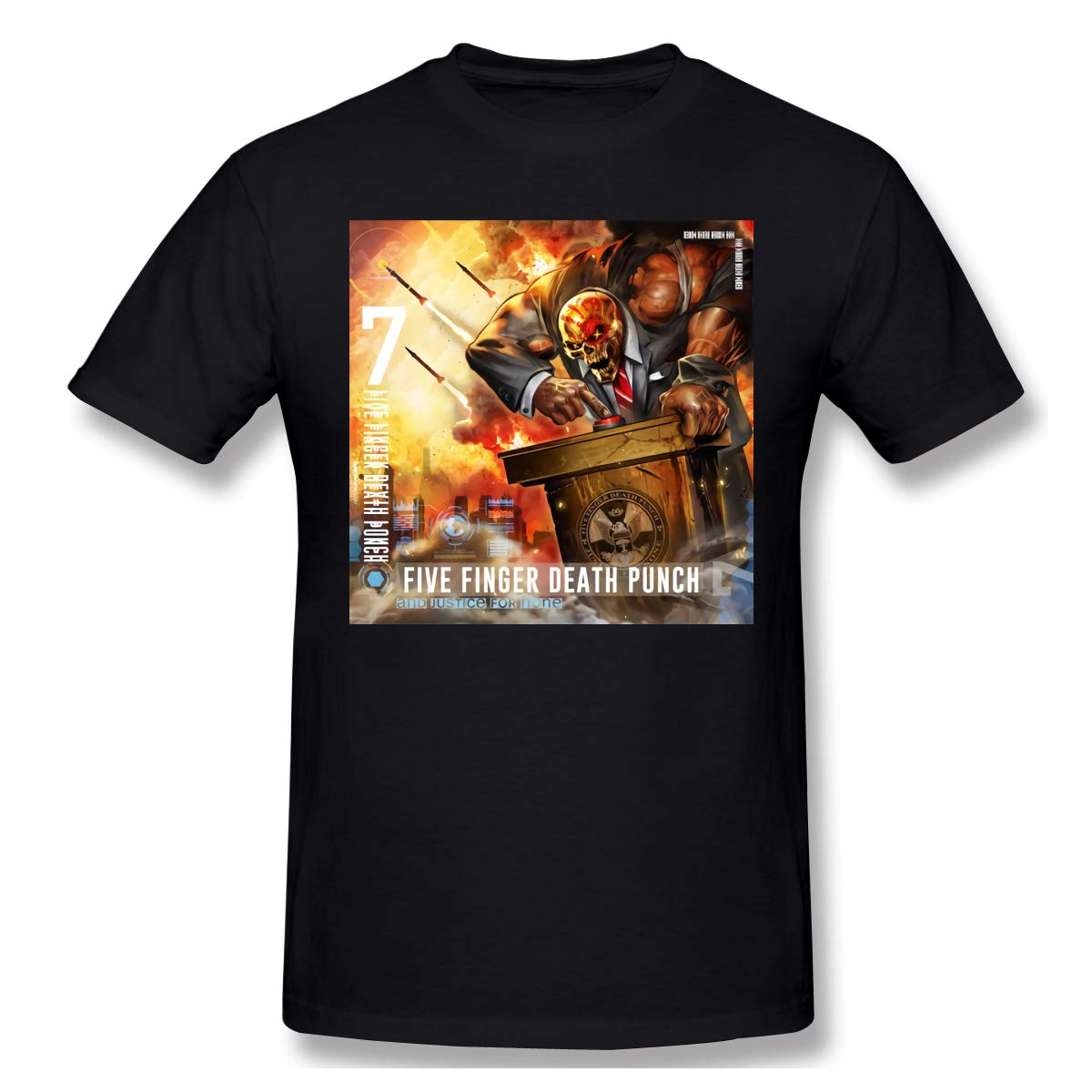 Five Finger Death Punch And Justice For None Mens Unique Design Sports Shirts