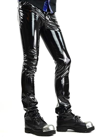 fc70a56f 24HRS by Lip Service Black Vinyl PVC Gothic Punk Rocker Cyber Goth Jeans  Pants (28