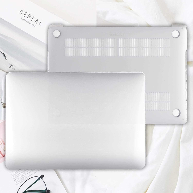 ProCase for MacBook Pro 13 Inch Case 2020 Release Model: A2289 // A2251 Ultra Slim Translucent Rubber Coated Hard Cover Shell for 2020 MacBook Pro 13.3 Inch Clear