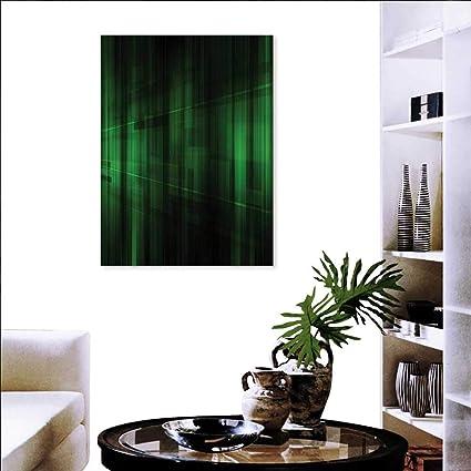 Amazon.com: Forest Green Modern Wall Art Living Room ...