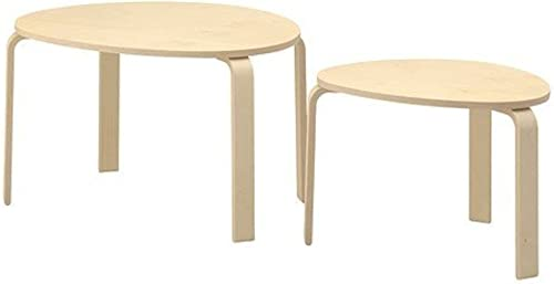 IKEA SVALSTA Nesting Tables, Set of 2, Birch Veneer 1826.26220.3026