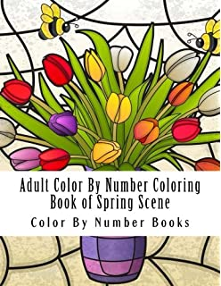 Amazon Com Adult Color By Numbers Coloring Book Of Spring A Spring