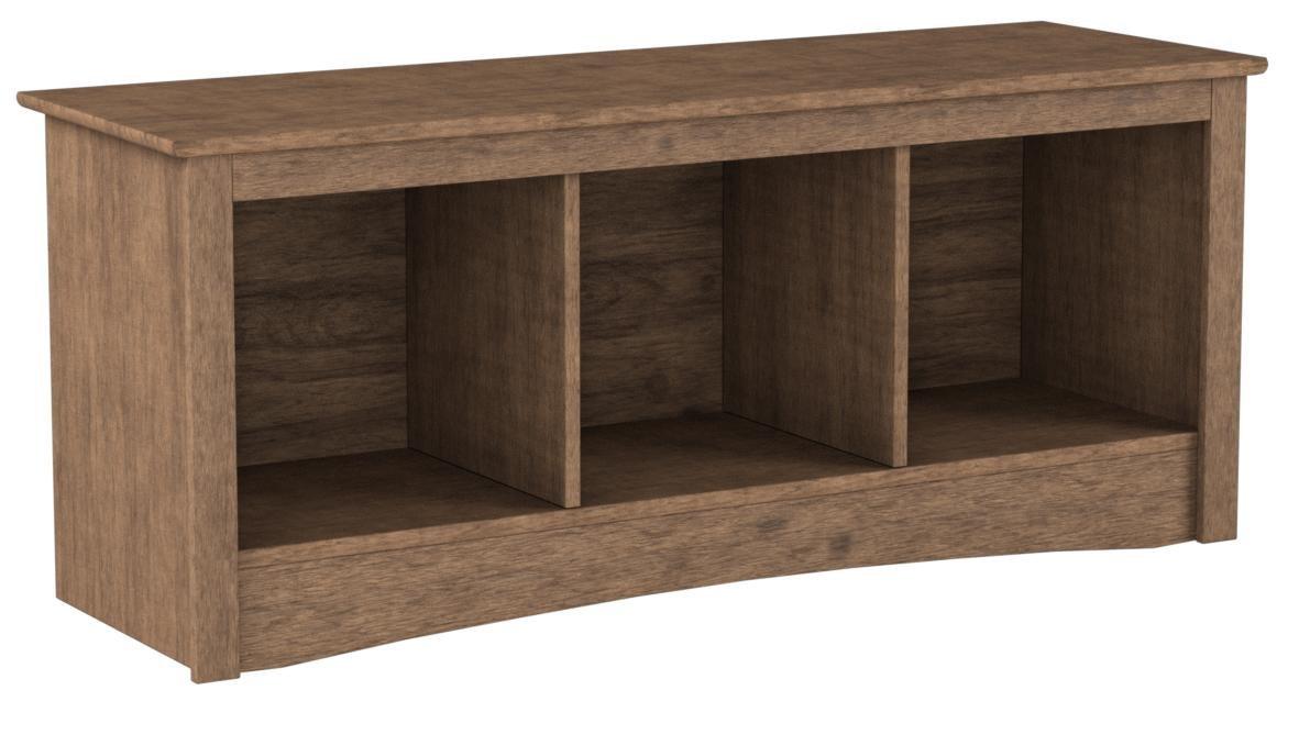 Prepac DSC-4820 Entryway, 3-Cubbie Bench, Drifted Gray