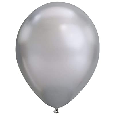 "Qualatex 85109 7"" Chrome-Silver Latex Balloons, 7"": Kitchen & Dining"