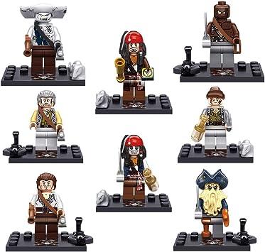 Set minifiguras compatible con Lego Piratas del Caribe Set 2: Amazon.es: Juguetes y juegos