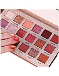 Beauty Glazed The New Nude Eyeshadow Palette 18 Colors Matte Shimmer Glitter Multi-Reflective Shades Ultra Pigmented Makeup Eye Shadow Powder Waterproof Eye Shadow Palette