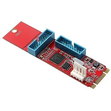 KESOTO - Tarjeta de expansión de Llave de 19 Pines USB 3.0 a ...