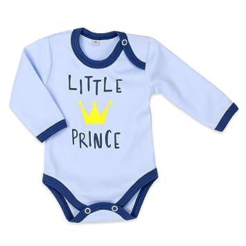 df547c4a0f Baby Sweets Baby Langarmbody Jungen blau   Motiv: Little Prince   Body mit  goldener Krone