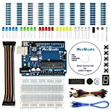 led development board - REXQualis Arduino UNO Project Basic Starter Kit for Arduino w/ UNO R3 Development Board, Detailed Tutorial, Breadboard, Buttons, Jumper Wires, Buzzer, LED and Resistor (163 Items)