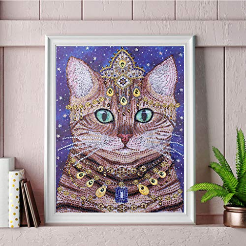 - Chenway Diamond Painting Kit DIY Painting 5d Full Diamond Cross Stitch Embroidery Craft Art Deco Oil Painting for Home Wall Decoration - Creative Animals (Queen of Cats 30x40cm)