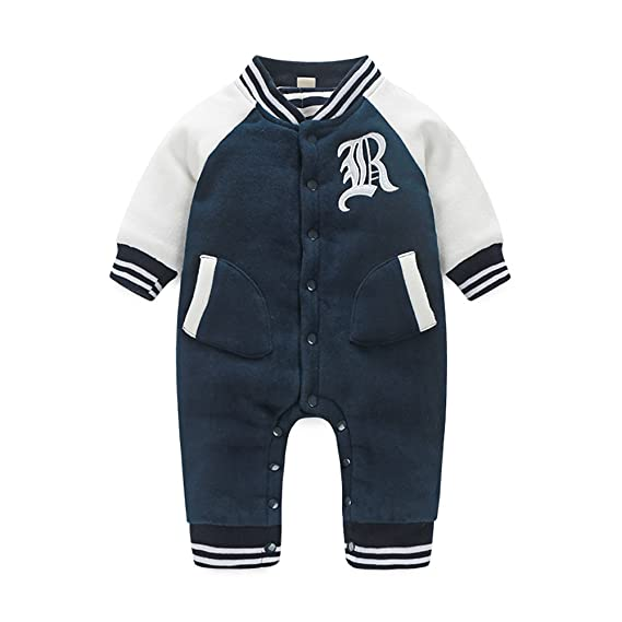 Boarnseorl Newborn Baby Boy Clothes Baseball Long Sleeve Outfit 3 6