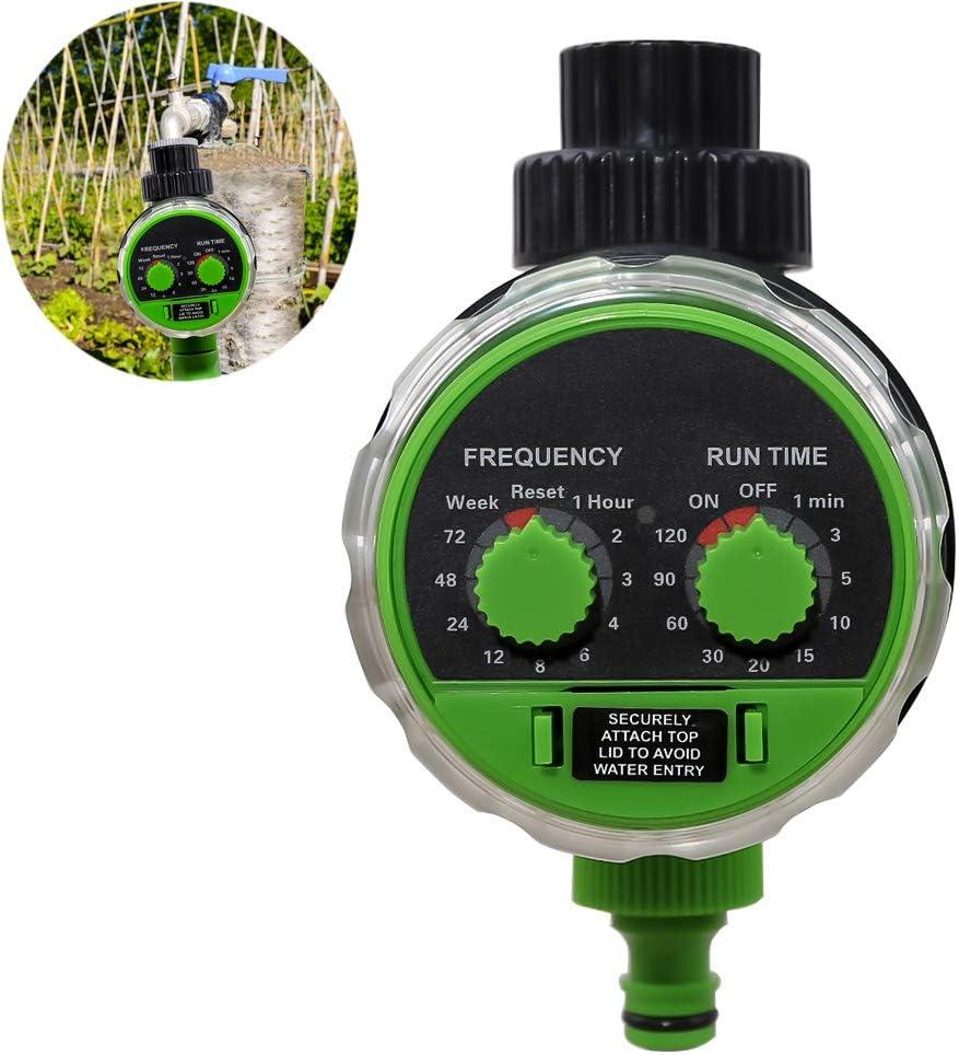 WXLSQ Agua Temporizador Digital IP68 Pantalla LCD a Prueba de Agua es Muy Adecuado para el jardín de riego por Goteo y Sistema de riego del césped, del Ciclo más Largo es de 30 días