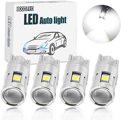 boodled 4 x T10 LED 5 – 3030SMD coche bombillas con lente del ...