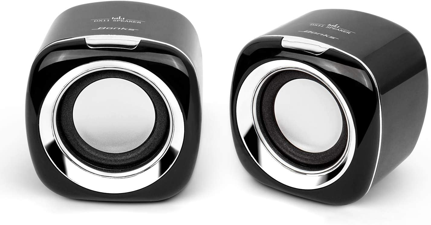 Computer Speakers, 6W PC Powered Speakers USB Speaker Monitor Speakers for Desktop Computer/PC/Laptop Gaming Speaker