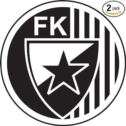 Amazoncom Nbfu Decals Logo Crvena Zvezda Black Set Of 2