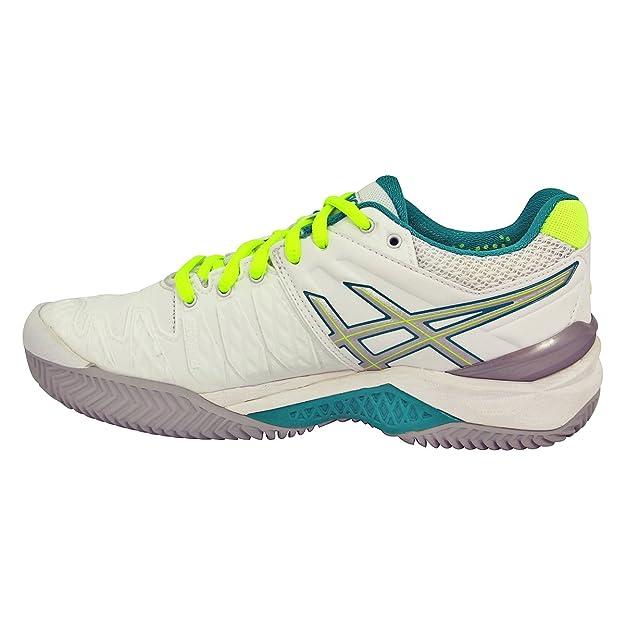 348c442c5e28 Asics Gel-Resolution 6 Clay - Women s Tennis Shoes - E553Y 0188 - White  Emerald Green Silver (US 8.5 - CM 25.5)