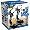 Jobar International (Set/2) Blue and Red LED Desk Lamps with Pivoting Heads and Handled Necks