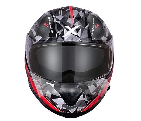 86d4939e Axor Apex Crypto D/V Full Face Helmet (Black and Red, M): Amazon.in: Car &  Motorbike