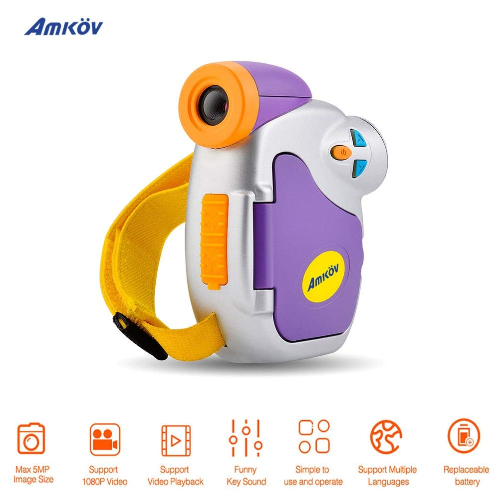 Amazon.com : amkov dv-c7 1080p Lovely Mini DSLR Camera Video Camara fotografica Digital Video Cameras profissional Photo Camera for Kids Gift : Camera & ...