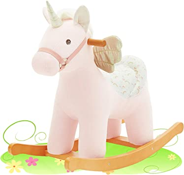 labebe Cavallo a Dondolo Legno, Gioco Cavalcabile Bimba 1