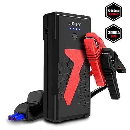 Arrancador Bateria Coche, JUMTOP 22000Mah 3000A Pico Arrancador ...