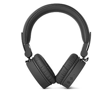 Fresh 'n Rebel Caps Wireless Headphones, Cuffie Bluetooth on ear, senza fili, padiglioni morbidi anti rumore, struttura chiudibile, microfono e telecomando integrati, cavo di riserva, grigio scuro (Concrete)