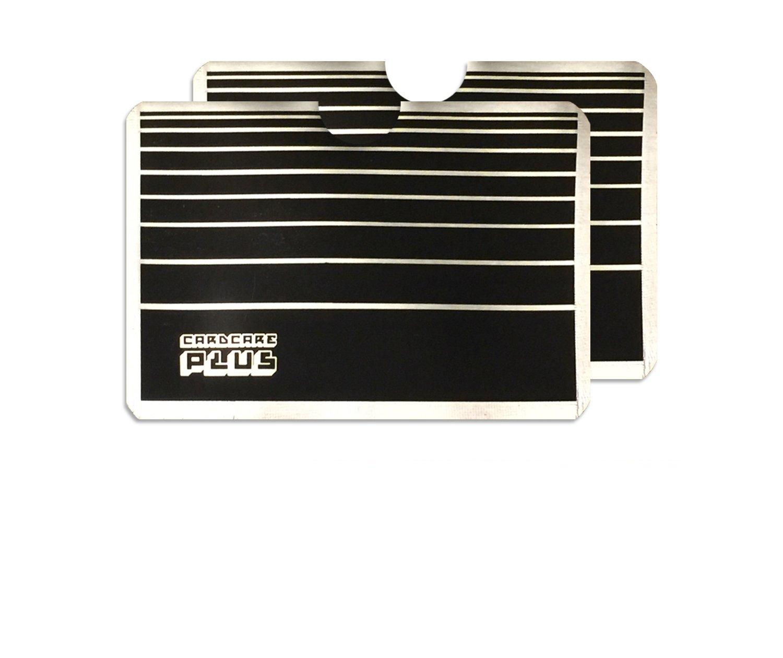 2x grau gestreift RFID NFC Blocker Karte Clash Anti Scan Displayschutzfolie für Ihre Kreditkarten Cosmic Deals RFID/2CC