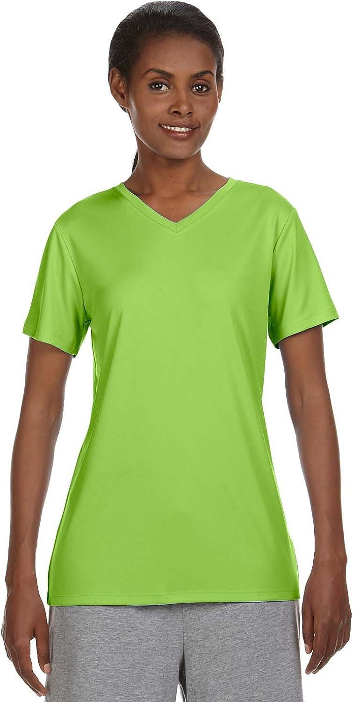 Hanes Ladies 4 oz. Cool Dri V-Neck T-Shirt